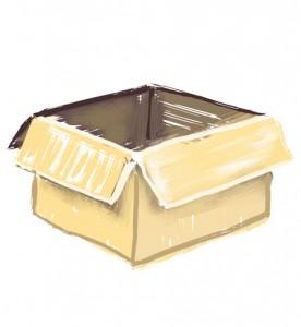 la boîte, vide