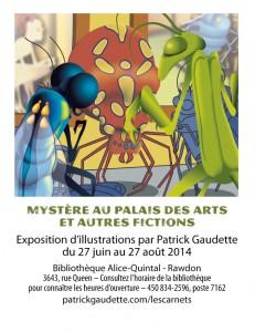 Exposition à la bibliothèque Alice-Quintal
